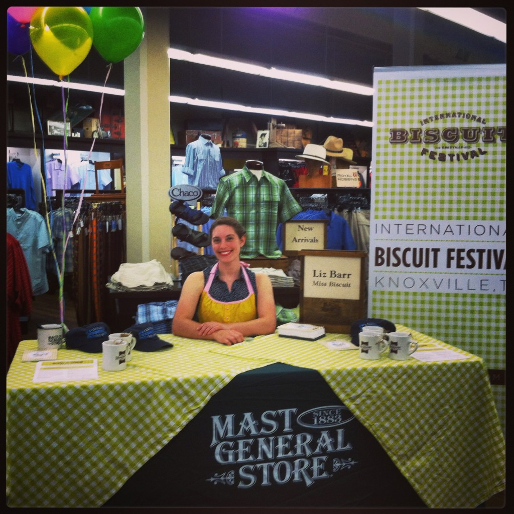 Miss Biscuit 2013, Liz Barr, signing autographs at Mast General Store!